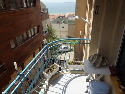 Furnished 1- bedroom apartment in St. Vlas - View to the Blacksea
